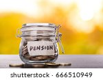 save money  for pension in the... | Shutterstock . vector #666510949