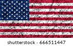 flag of united states | Shutterstock . vector #666511447