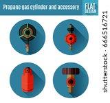 vector illustration of  propane ... | Shutterstock .eps vector #666516721