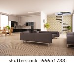 modern interior of a drawing... | Shutterstock . vector #66651733