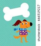 cute puppy message   Shutterstock .eps vector #666519217