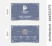 business card modern design... | Shutterstock .eps vector #666521575