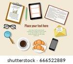 concept of  business meeting... | Shutterstock .eps vector #666522889