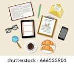 concept of  business meeting... | Shutterstock .eps vector #666522901