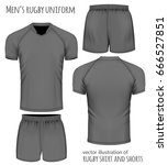 rugby uniform in black  jersey... | Shutterstock .eps vector #666527851