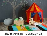 interior of colorful playing... | Shutterstock . vector #666529465