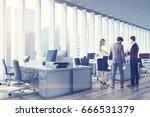 business people in an open... | Shutterstock . vector #666531379