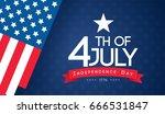 4th of july banner vector... | Shutterstock .eps vector #666531847