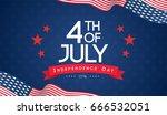 4th of july banner vector... | Shutterstock .eps vector #666532051