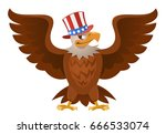 american eagle in the patriotic ... | Shutterstock .eps vector #666533074