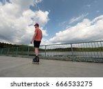 roller skater in action. man... | Shutterstock . vector #666533275