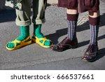 milan   june 18  women with... | Shutterstock . vector #666537661