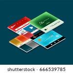 vector web site page design... | Shutterstock .eps vector #666539785