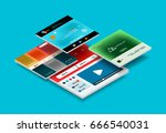 vector web site page design... | Shutterstock .eps vector #666540031