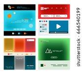 vector web site page design... | Shutterstock .eps vector #666540199