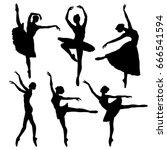 Ballerina Silhouette Set....
