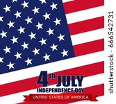 4th of july  independence day ... | Shutterstock .eps vector #666542731