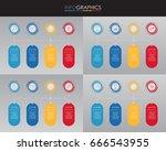 set of presentation business...   Shutterstock .eps vector #666543955