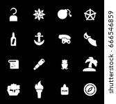 vector white pirate icons set... | Shutterstock .eps vector #666546859