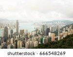 victoria harbor  hong kong  ... | Shutterstock . vector #666548269