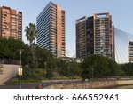 apartment buildings at jones... | Shutterstock . vector #666552961