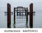 brighton west pier  | Shutterstock . vector #666553411
