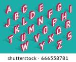 vector trendy isometric... | Shutterstock .eps vector #666558781