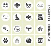 pet icons  mono vector symbols | Shutterstock .eps vector #666559879