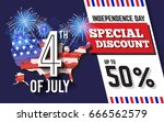 4th of july celebration... | Shutterstock .eps vector #666562579