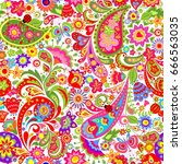 decorative wallpaper with... | Shutterstock .eps vector #666563035