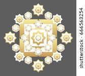 flower abstract style molecular ... | Shutterstock .eps vector #666563254