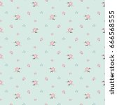cute floral print in small... | Shutterstock .eps vector #666568555