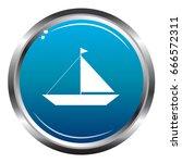 boat blue icon   Shutterstock .eps vector #666572311