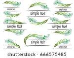 vector set  calligraphic design ... | Shutterstock .eps vector #666575485