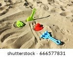 sand  beach. game in the sand.... | Shutterstock . vector #666577831
