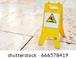sign showing warning of caution ... | Shutterstock . vector #666578419