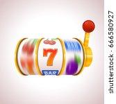 golden slot machine wins the...   Shutterstock .eps vector #666580927