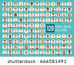 collection of 120 different... | Shutterstock .eps vector #666581491
