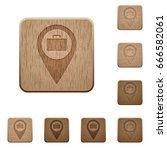 baggage storage gps map... | Shutterstock .eps vector #666582061