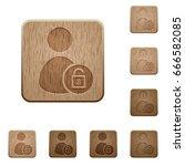unlock user account on rounded... | Shutterstock .eps vector #666582085