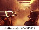 city street cars traffic... | Shutterstock . vector #666586459