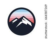 mountains vector icon. | Shutterstock .eps vector #666587269