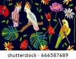 bright colors palette. seamless ... | Shutterstock .eps vector #666587689