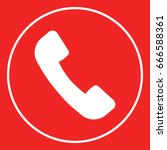 telephone handset symbol ... | Shutterstock . vector #666588361