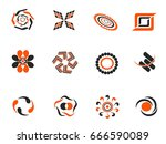color abstract design element... | Shutterstock .eps vector #666590089