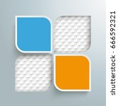 infographic with round squares... | Shutterstock .eps vector #666592321