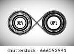concept of devops  represents... | Shutterstock .eps vector #666593941