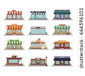 set of vector flat design ...   Shutterstock .eps vector #666596101