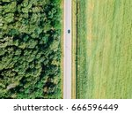 aerial drone view of moving... | Shutterstock . vector #666596449