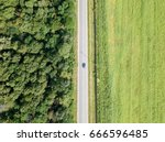 aerial drone view of moving... | Shutterstock . vector #666596485